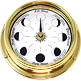 Tabic Solid Brass Moon Phase Clock