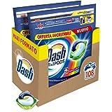 Dash All in 1 Pods Detersivo Lavatrice in Capsule, 108 Lavaggi (2 x 54), Salva Colore, Maxi Formato, Pulizia Profonda, Per Tu