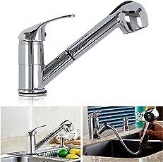 AllRight Einhebelmischer Küchenarmatur mit herausziehbarer Schlauch Brause Wasserhahn