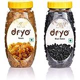 Dryo Dry Fruit Combo Raisin 250gm & Black Raisin 250g
