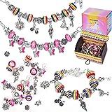 Flyfun Kit per Braccialetti Ragazza, Kit di creazione di Gioielli per Ragazze, Natale Braccialetti con ciondoli Perline Caten