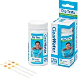Clearwater CH0043 50 Dip Test Strips for Swimming Pool and Spa Treatment, Measures PH, Alkaline and Chlorine