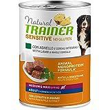 Trainer Natural Sensitive No Glutine - Cibo Umido per Cani Medium-Maxi Adulti con Agnello e Cereali Integrali Pack 12 x 400gr