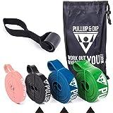 PULLUP & DIP Weerstandsbanden Pull-Up Banden voor Geassisteerde Pull-Ups, Calisthenics, Crossfit, Pull-Up Bar; Premium Fitnes