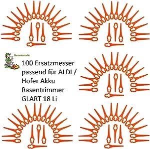 ALDI//Hofer Akku Rasentrimmer Gardenline GLART 18 Lot 100 Kunstoffmesser passt