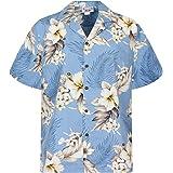 Pacific Legend | Original Hawaiian Shirt | for Men | S - 4XL | Short-Sleeve | Front-Pocket | Hawaiian-Print | Gentian Flowers
