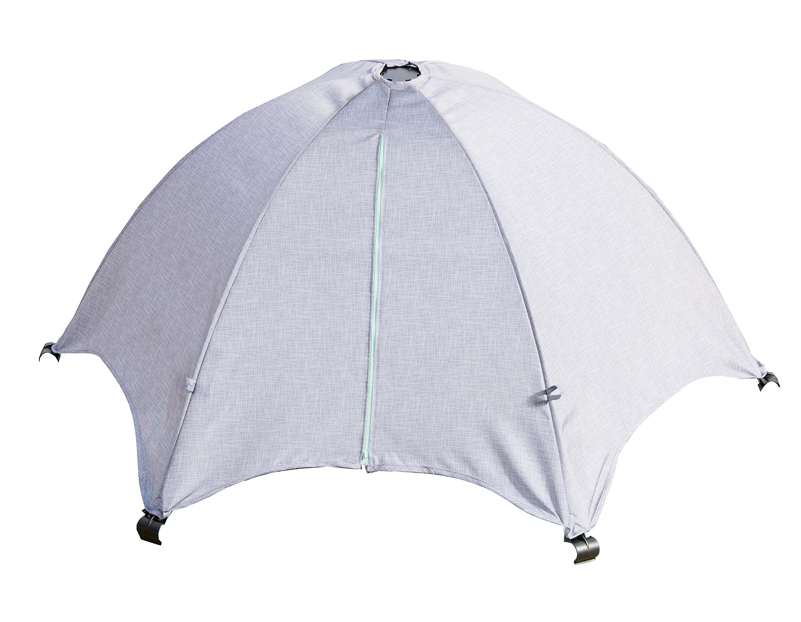 Summer Infant Pop N Play Deluxe UV Canopy  Full coverage canopy blocks 98% of uva/uvb rays Two zip-open panels for easy access and optimal air flow Fashionable textured grey finish 1