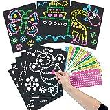 Baker Ross Bastelset - Bilder mit Klebepunkten - Aufkleber für Kinder zum Abziehen und Auftragen auf vorgedruckte Motive - 8 Stück