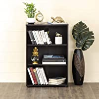 Home Centre Helios Arvis - Canalis 3 Tier Storage Cabinet (Oak Chocolate)