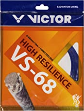 Victor VS-68 (0.6mm x 10mm) High Resilience Badminton String Available in 3 Different Color (Pack of 3)