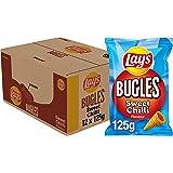 Lay's Bugles Sweet chilli Chips, Doos 12 stuks x 125 g