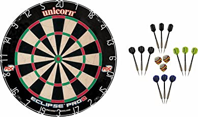 Unicorn Dart Board Eclipse Pro2 Bristle Board + McDart Steeldarts