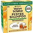 Garnier Festes Shampoo, Reparierendes Honig Schätze-Shampoo mit Bienenwachs, kräftigt, schützt & nährt strapaziertes und brüc