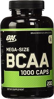 OPTIMUM NUTRITION Instantized MEGA SIZE BCAA 1000 CAPS, Branched Chain Essential Amino Acids Capsules, 1000mg, 200 capsules