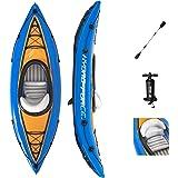Bestway Hydro Force Cove Champion Kajak – Kanot – uppblåsbar – 1-person – med pump och paddel – blå