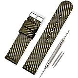Vinband Cinturini Orologi Alta qualità Tela di canapa Orologi Bracciale Militari dell'esercito - 18mm, 20mm, 22mm, 24mm Cintu