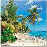 Tropical Paradise 2021 Wall Calendar 11.8 x 11.8 inches (16 Months) Family Planner Calendar 2021