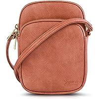 N\C Damen Schultertasche PU Leder Handtaschen Handy Umhängetasche Frauen Brieftasche Geldbörse mit Verstellbar Abnehmbar…