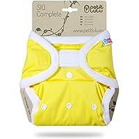 Petit Lulu TI2 Pannolino Di Stoffa Taglia Unica (4-15 kg) | SIO Complete Nuova Versione Insert breve | Hook & Loop…