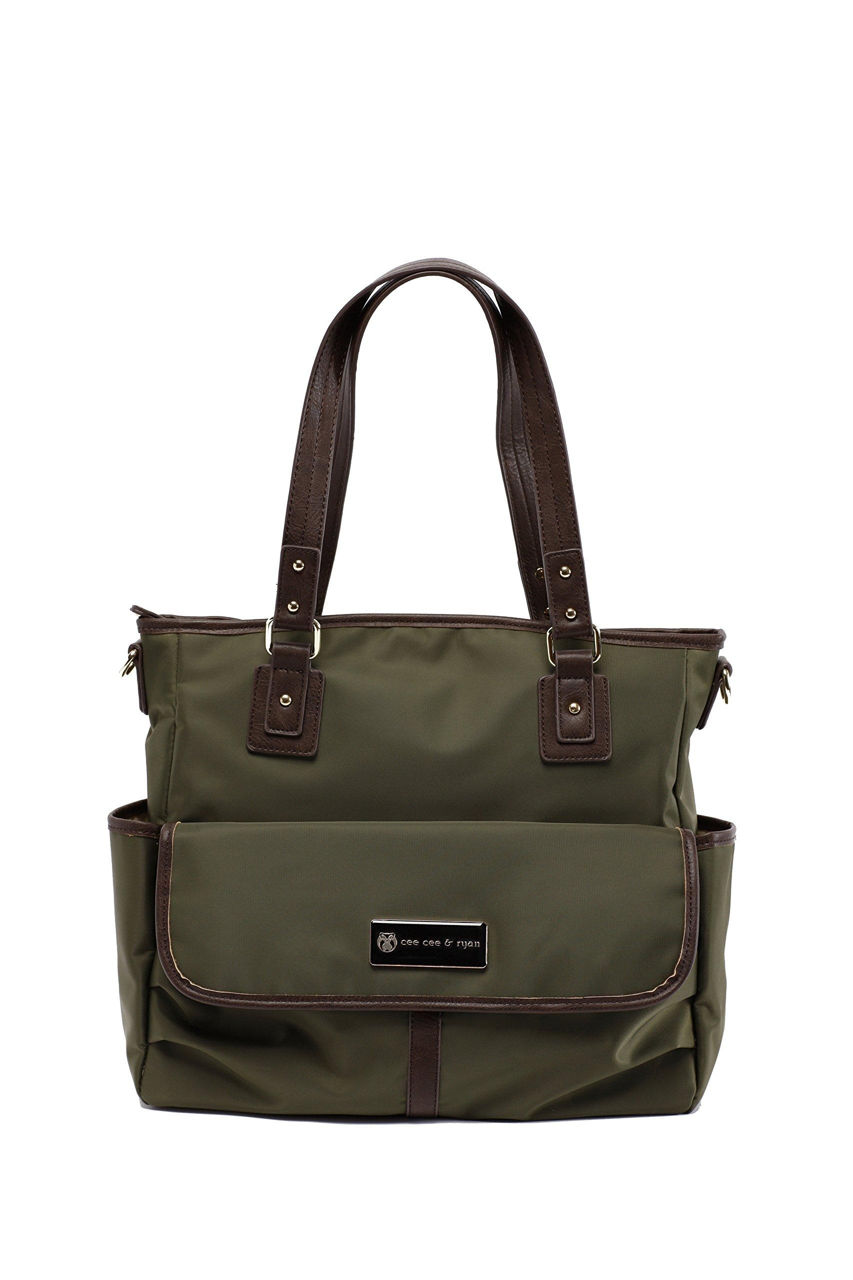 CEE CEE & Ryan 'Lisa' Baby bag/borsa fasciatoio–Carryall Tote, olive