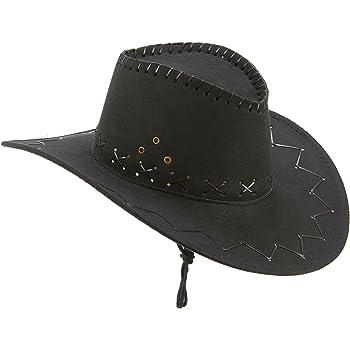 Generique - Cappello Cowboy Nero adultoCappello Cowboy Nero Adulto Taglia  Unica 581b4ddf7153