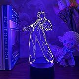 Gevo Apan Luz de noche 3D Anime japonés Ilusión Lámparas de decoración LED Luz de noche 3D Lámpara de Regalo para fanáticos L