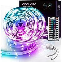10M LED Strip, COOLAPA RGB LED Streifen, LED Lichterkette Streifen mit Fernbedienung 44-Tasten, 12V 5050 SMD…