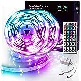 10M LED Strip, COOLAPA RGB LED Streifen, LED Lichterkette Streifen mit Fernbedienung 44-Tasten, 12V 5050 SMD, Beleuchtung von