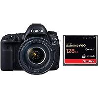 Canon EOS 5D Mark IV 30.4 MP Digital SLR Camera (Black) + EF 24-105mm is II USM Lens Kit + SanDisk 128GB Extreme PRO…