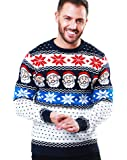 NOROZE - Maglione natalizio unisex Fair Isle, a maglia grossa