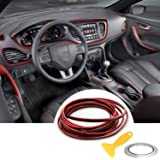 Car Trim Strip linea,fai da te Car Styling interni modanature Decorazione,5M (rosso)