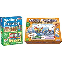 Smart Spelling Puzzles & Math Puzzles - Multiplication and Division