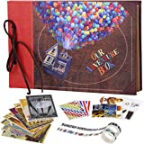 COMBIUBIU Album Photo Scrapbooking,Traditionnel DIY Scrapbook,Our Adventure Book ,Albums Photos 60 Pages,DIY Scrapbooking Liv