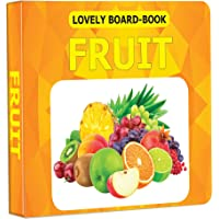 Fruit Board Book for Children Age 0 -2 Years   Easy to hold Early Learning Picture Book to Learn Fruit- Lovely Board…
