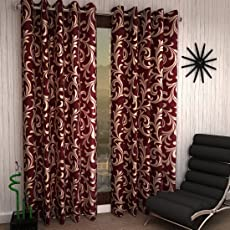 Home Sizzler Polyester Blend Curtain