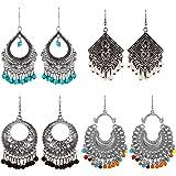 YouBella Earrings for Women Stylish Jewellery Earrings Combo of Four Afghani Kashmiri Jhumka earrings Fancy Party wear ear ri