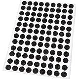 Adsamm® | 108 x viltglijders | Ø 10 mm | zwart | rond | 1,5 mm dunne zelfklevende vilten meubelglijders van topkwaliteit