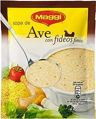 Maggi Sopa de Ave con Fideos Finos, Sopa Deshidratada - 78 gr (4 raciones)