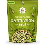 Organic Nuts Cardamom Green Whole - 50g, Grade - Big Size, All Premium.
