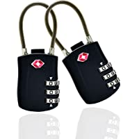 store HD Zahlenschloss Set 2 Gepäckschlösser Spind TSA-kompatibles Rucksackvorhängeschloss - Reisetaschenschloss…