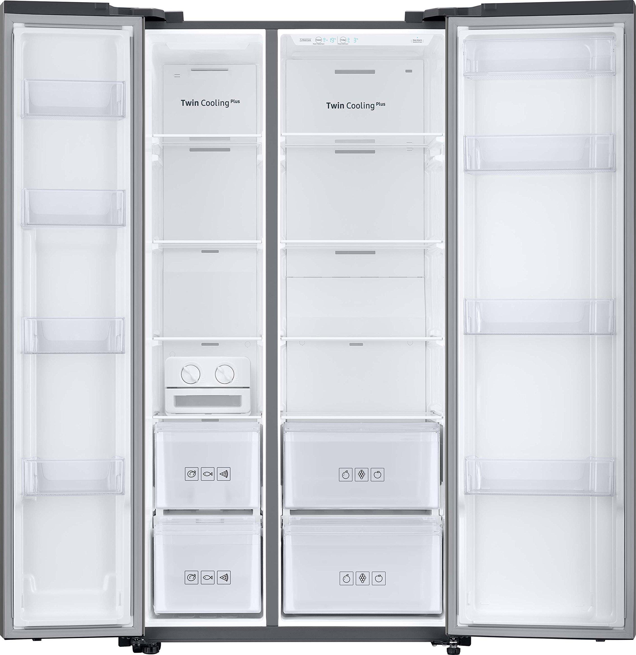 Samsung RS8000 RS6KN8100S9/EG Side-by-Side Kühlschrank/A+/420 kWh/Jahr/178 cm Höhe/453 L Kühlteil/210 L Gefrierteil…