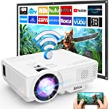 Proyector, Proyector WiFi, Proyector 5500 Lumens Soporta Full HD 1080P, Proyector Mini Compatible con TV Stick HDMI VGA USB T