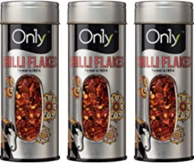 On1y Chilli Flakes Tin 50 gm(Pack of 3)