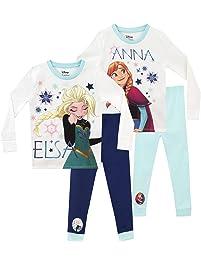 Disney Frozen Pijamas para Niñas 2 Paquetes Ajuste Ceñido El Reino del Hielo