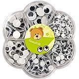 Bastelbär 600 ruchomych oczek, duże, średnie, małe, samoprzylepne, ruchome oczka, samoprzylepne, duże oczka, samoprzylepne, 6