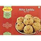 Nathu Sweets Desi Ghee Atta Dry Fruit Ladoo - Sweet and Delicious Laddoo, Soft, Flaky, Tasty Mithai for Festivals, Special Oc