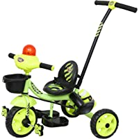 Luusa Tricycle Lovely Bike for Kids with Parental Control (Green)