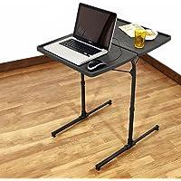 Bi3 Table Dual Top Multipurpose Metal Laptop Study Dinning Portable Table Strong Adjustable Height (Midnight Black)