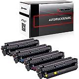 Logic-Seek® 4 Toner kompatibel zu HP CF410X-CF413X Color Laserjet Pro M452 DN/dw/nw M470 M477 fdn/fdw/fnw M450 M377 dw - Schwarz 6.500 Seiten, Color je 5.000 Seiten