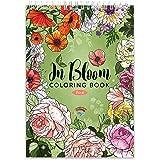 Livre coloriage adulte par Colorya | Edition In Bloom | Avec Reliure Spirale et Papier de Qualité au Format A4 | Cahier de Co